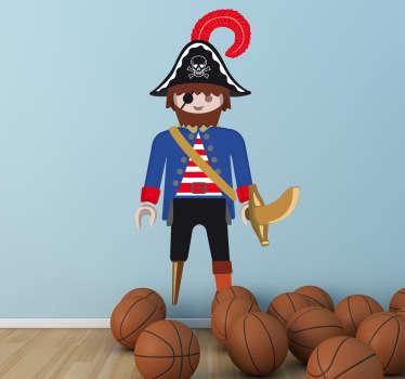 Vinil decorativo infantil playmobil pirata