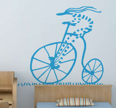 Sticker decorativo illustrazione ciclista