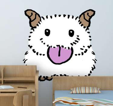 Sticker enfant illustration animal velu
