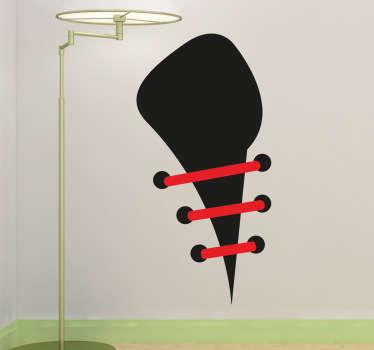 Naklejka dekoracyjna sznurówki buta