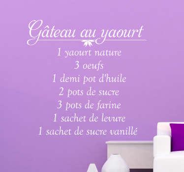 Sticker cuisine gâteau au yaourt