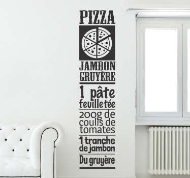 Sticker cuisine pizza jambon gruyère