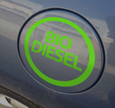 Autocolant pentru autoturisme cu biodiesel