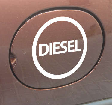 наклейка с дизельным автомобилем