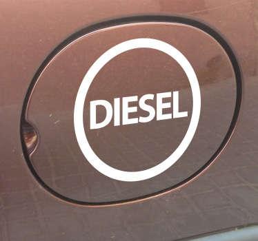 Naklejka na samochód diesel