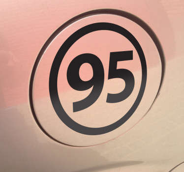 Unleaded 95 Vehicle Sticker