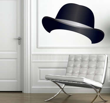 Adhesivo sombrero bombín