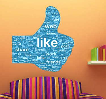Sticker pouce médias sociaux
