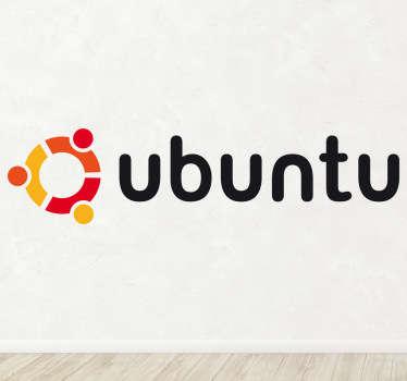 Vinilo decorativo logotipo Ubuntu