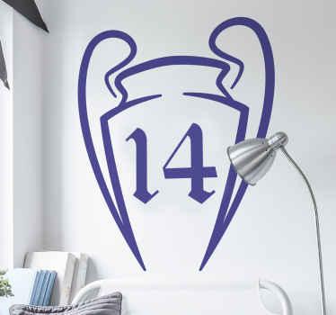 Vinilo decorativo Copas Europa Real Madrid