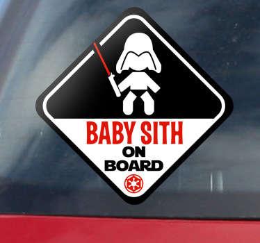 Autocolante para carro Baby Sith a bordo