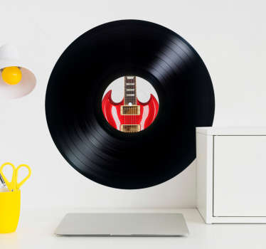 Adesivos de parede discos vinil personalizados