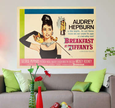Cartel adhesivo Breakfast Tiffanys