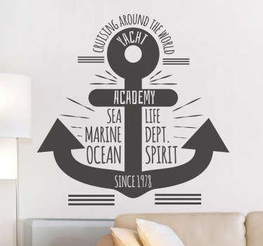 Anker zee marine sticker