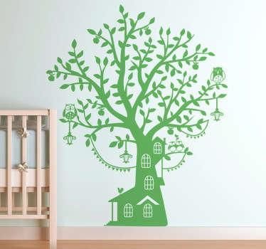 Kids Tree House Monochrome Wall Sticker