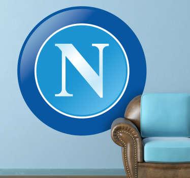 Adhesivo decorativo emblema Nápoles
