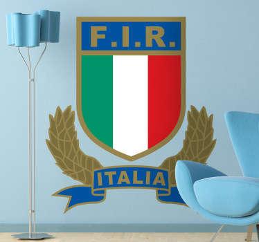 Adesivo murale Federazione Italiana Rugby