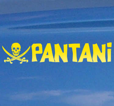 Vinilo decorativo pirata Pantani