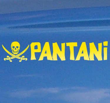 Original diseño en adhesivo para los fieles seguidores del controvertido corredor italiano.