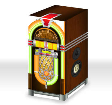 Sticker frigo jukebox