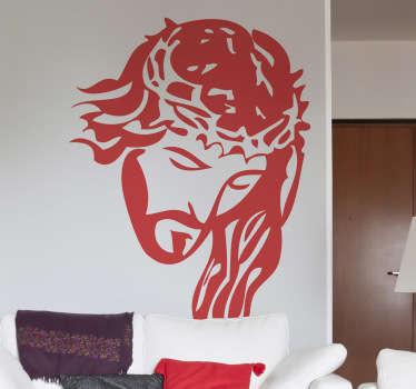 Autocollant mural portrait Christ