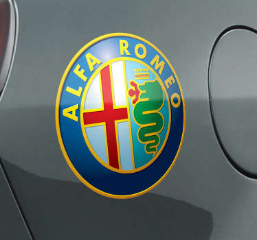 Sticker decorativo logótipo Alfa Romeo