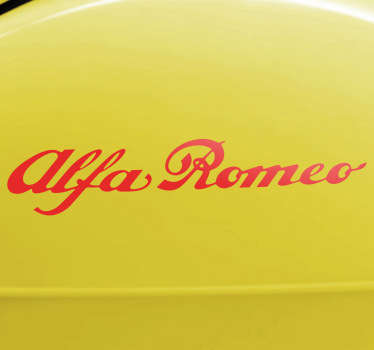 Sind Sie ein Alfa Romeo Fan? Zeigen Sie dies mit diesem Text Sticker vom bekannten italienischen Automobilhersteller.