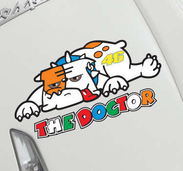 Sticker vehicule chien Doctor Rossi