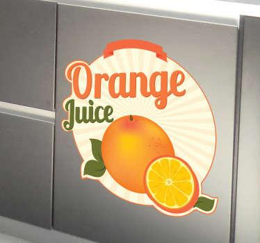 Sticker cuisine orange juice
