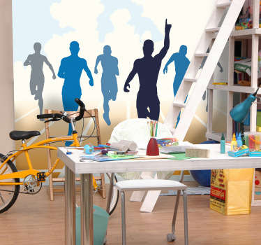 Sports Stickers - Ready, Set, Go! Athletics themed wall sticker of competitors in a race.