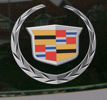 Escudo en adhesivo de la emblemática marca de vehículos norteamericana.