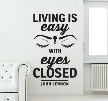 Living is Easy Beatles Wall Sticker