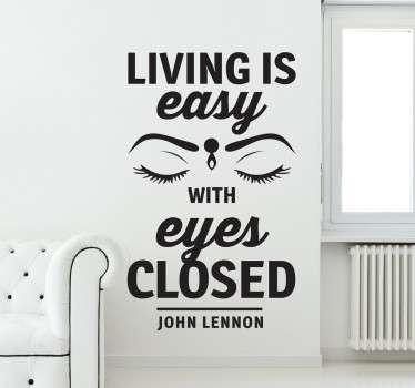 Levande är lätt beatles vägg klistermärke