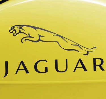 Vinilo decorativo logotipo Jaguar