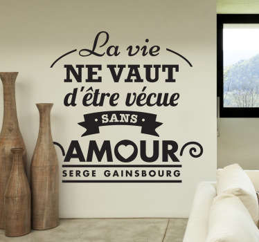 Sticker paroles Serge Gainsbourg