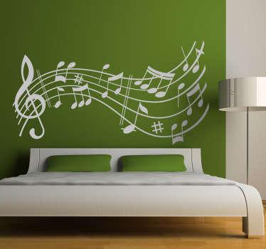 Musical Score Symphony Wall Sticker