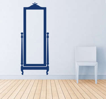 Vintage spegel vardagsrum vägg inredning