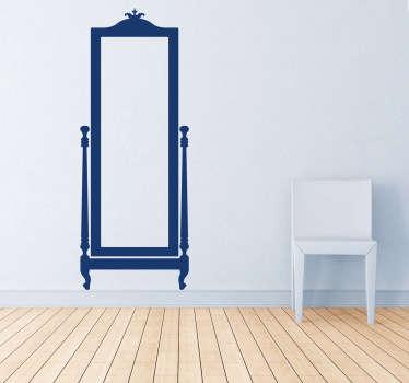 Vinilo decorativo espejo clásico