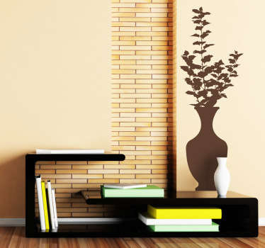 Classic Vase Theme Wall Sticker