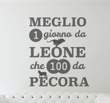 Sticker decorativo giorno da leone