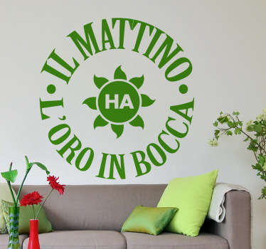 Sticker decorativo il mattino