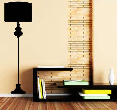 Lampe silhuet wallsticker