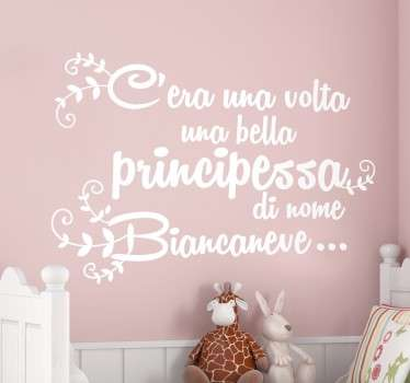 Sticker decorativo inizio Biancaneve