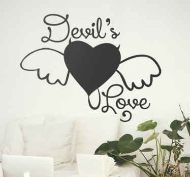 Devil's Love Heart Wall Sticker