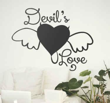 Devil's Love Heart Wall Sticker