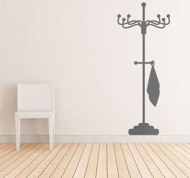 Room Stickers - TenStickers´home decals. Coat rack wall sticker for your home. Available in various colours, ideal for decorating different spaces.