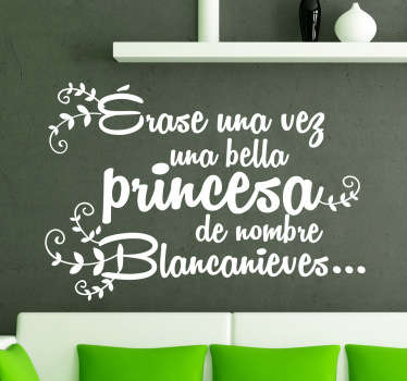 Vinilo texto introduccion Blancanieves