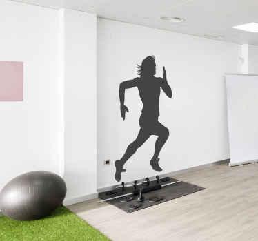 Juoksija sisustustarra
