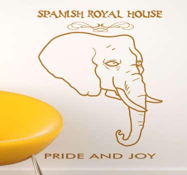 Vinilo decorativo spanish royal house
