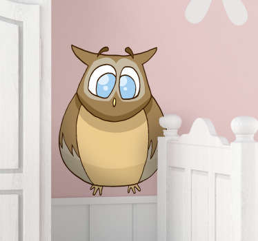 Kids Blue Owl Decal